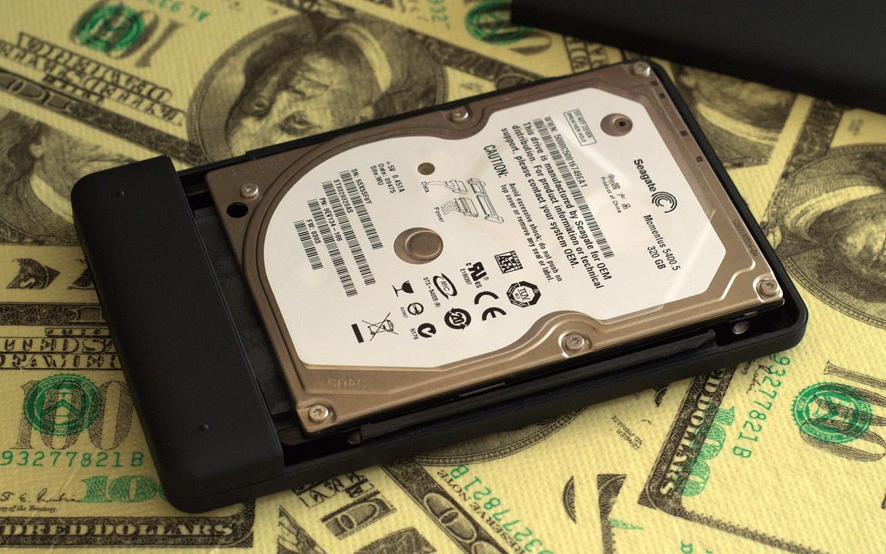 HDD, установленный в бокс