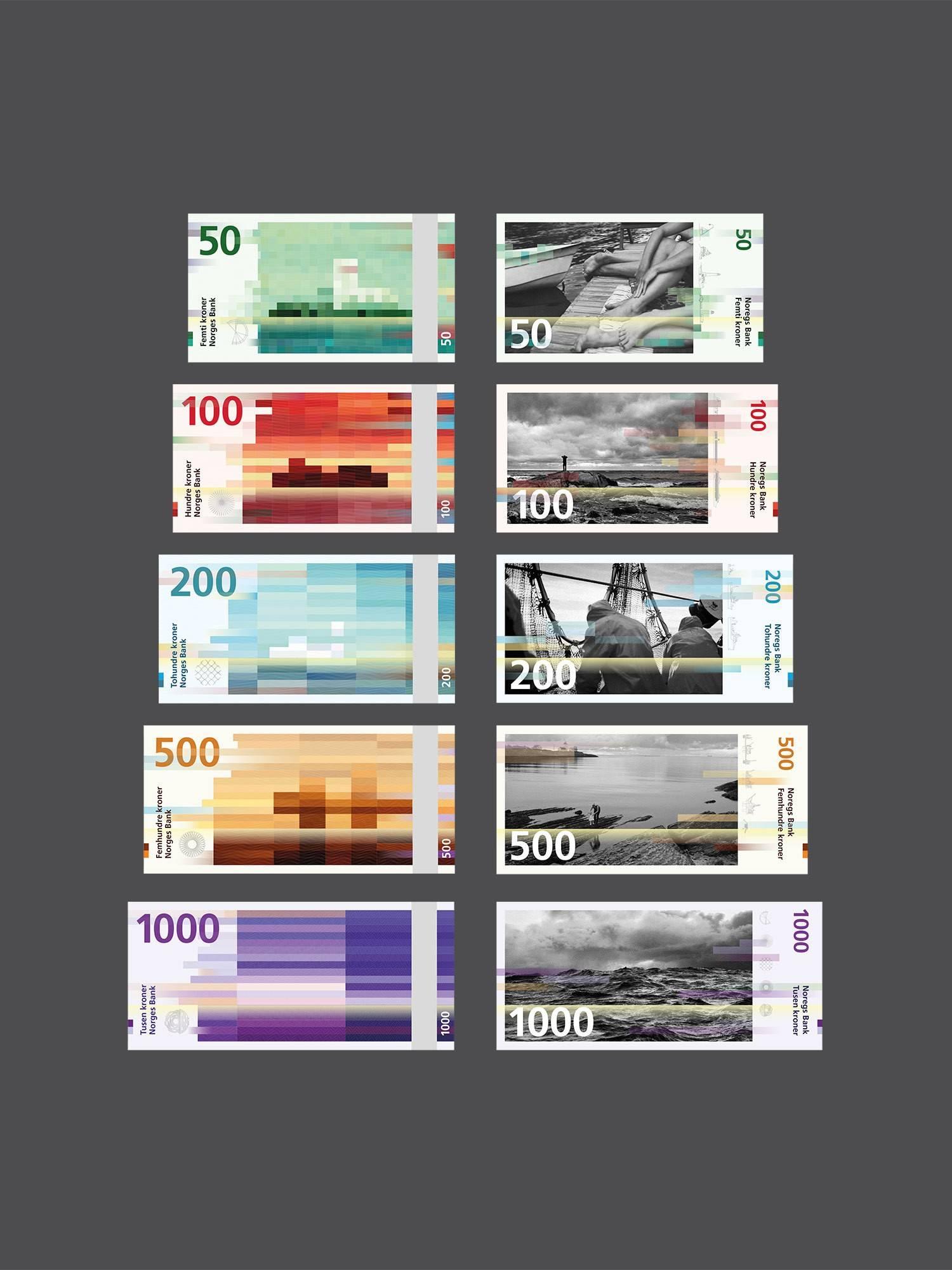 Дизайн  норвежских купюр от студии Snøhetta
