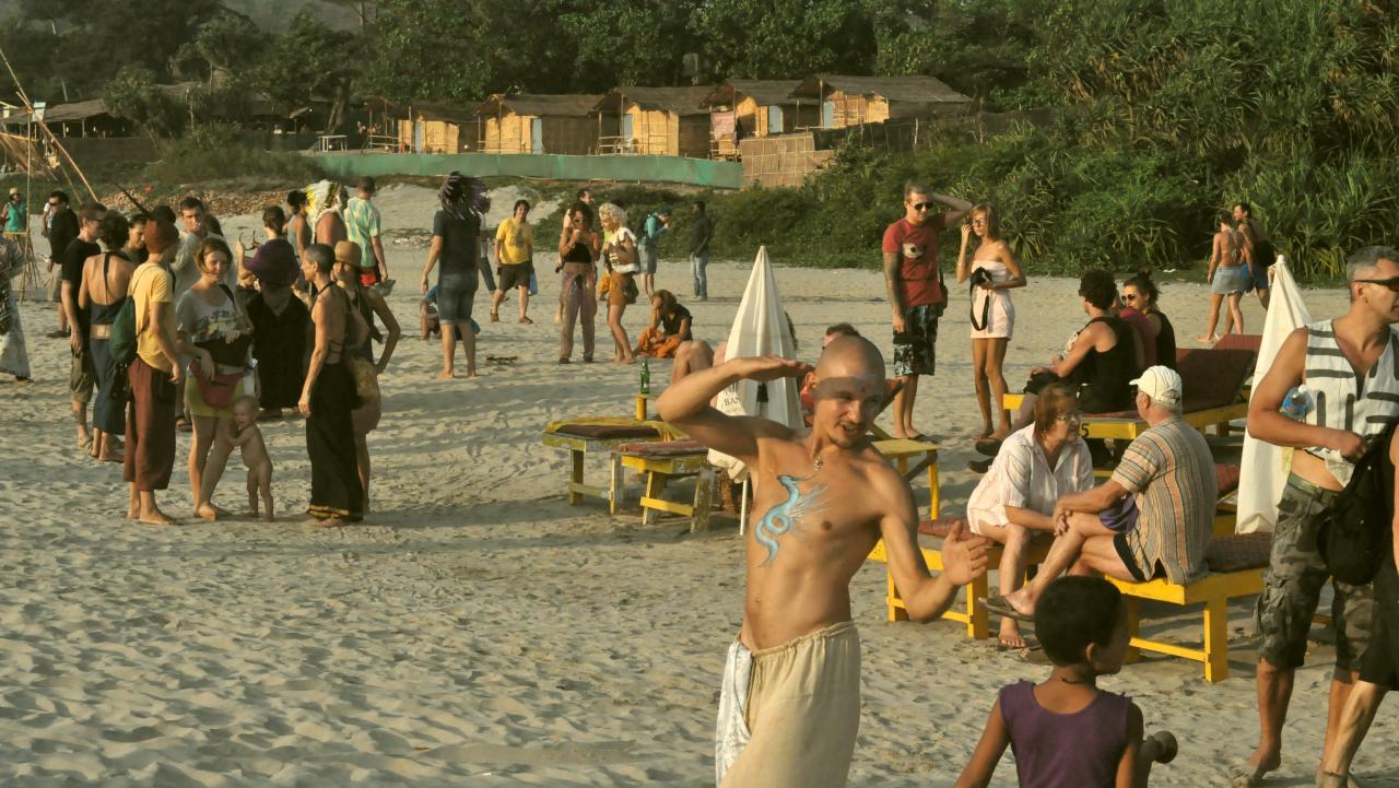 Закат на пляже Арамболя